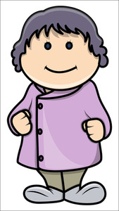 Cute Fat Little Girl - Vector Cartoon Illustration