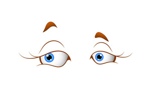 Cute Female Cartoon Eyes