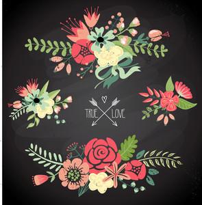 可愛的花束