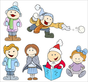 Cute Fun Vector Children