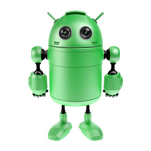 Cute Green Robot