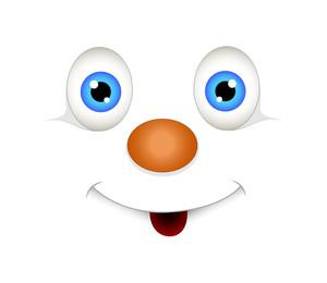 Cute Happy Snowman Face