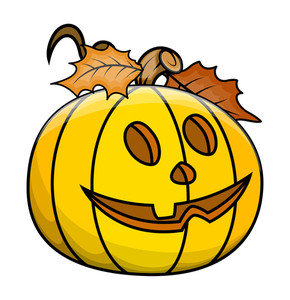 Cute Jack O' Lantern - Halloween Vector Illustration