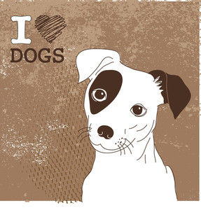 Cute Jack Russell Terrier. Brilliant Card For Doglovers!