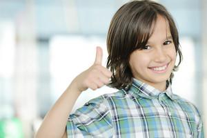Cute kid indoors portrait
