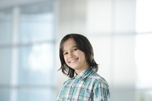 Cute kid indoors portrait