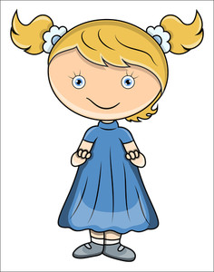 Cute Little Baby Girl - Vector Cartoon Illustration