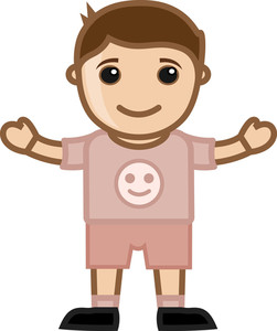 Cute Little Boy - Vector Character Cartoon Illustration