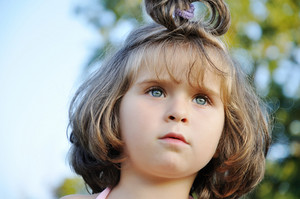 Cute little girl in nature