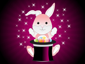 Cute Magic Bunny Rabbit Vector Illustration