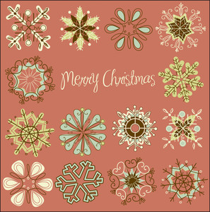 Cute Retro Snowflakes