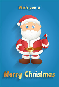 Cute Santa Christmas Greeting