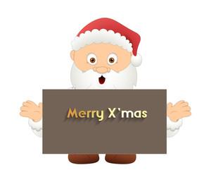 Cute Santa Claus Xmas Banner