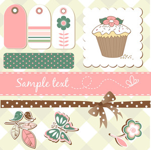 Cute Scrap-booking Elements-