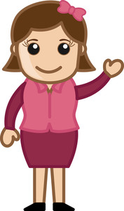 Cute Simple Cartoon Girl Vector