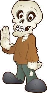 Cute Skeleton - Cartoon Character