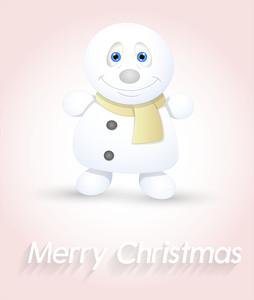 Cute Small Snowman