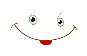 Cute Smile Cartoon Face Vector Illustration