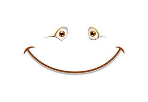 Cute Smiley Vector Cartoon Face