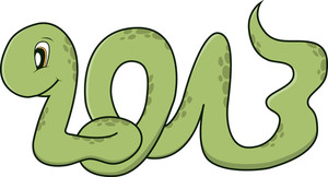Cute Snake - 2013 - Year Of The Snake In Chinese Zodiac