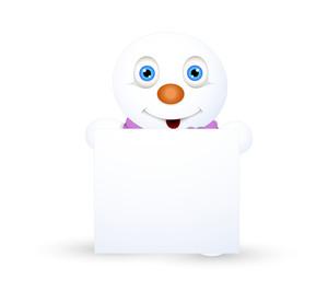 Cute Snowman Blank Banner
