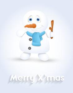 Cute Snowman Smiling