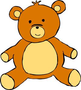Cute Teddy Bear Sitting And Smiling