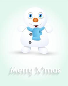 Cute Tiny Snowman