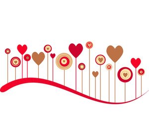 Cute Vector Valentine Background-