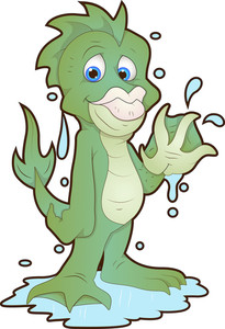 Cute Water Monster - Cartoon Character