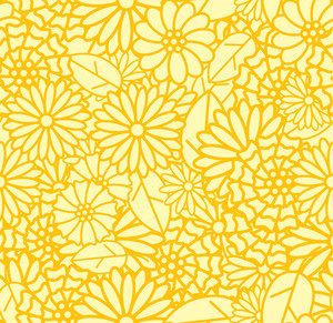 Daisies. Seamless Pattern.