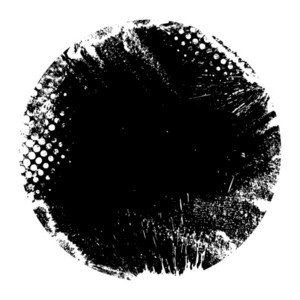 Damage Round Grunge Shape Silhouette Vector