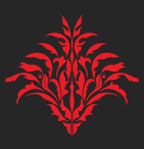 Damask Floral Design
