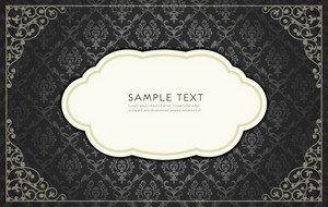 Damask Frame Vector Illustration
