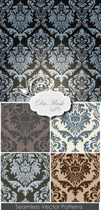 Damask Patterns Vector Set