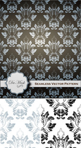 Damask Patterns Vectors