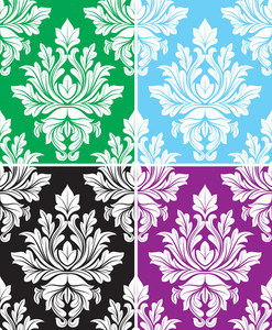 Damask Pettern Vectors Background