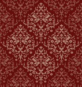 Damask Seamless Pattern Vector Illustration