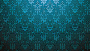 Damask Web Banner Vector Illustration