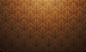 Damask Web Banner Vector Illustraton