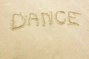 Dance Text On Sand