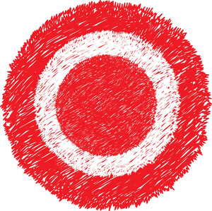 Danger Red Scribble Circle