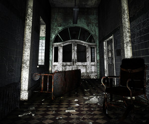 Dark Asylum Interior Background