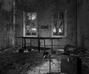 Dark Asylum Scary Interior Background