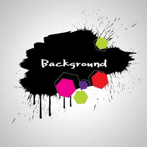 Dark Black Grunge Splash Banner - Vector Background