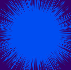 Dark Blue Sunburst Background