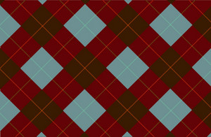 Dark Brown Vector Tartan