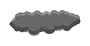 Dark Comic Cloud Vector