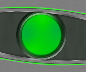 Dark Eye Shapes Green Background