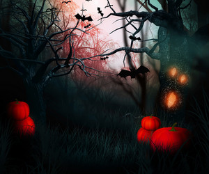 Dark Forest Halloween Backdrop